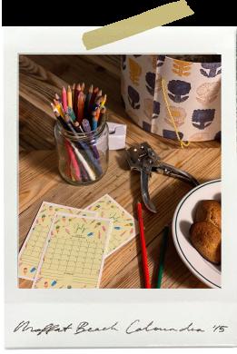 カレンダーをハガキに印刷してメッセージカードに。