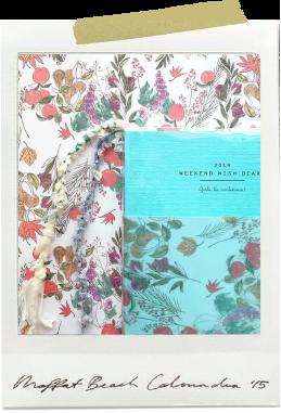 季節ごとに手帳の帯も衣替えを。