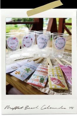 大勢でのピクニックには、名前入りのお箸袋を。