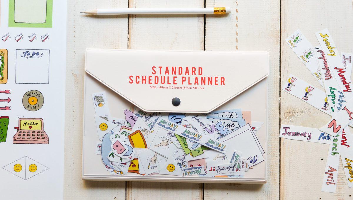 手帳はやっぱりアナログ派。カスタマイズが楽しいシールデザイン集